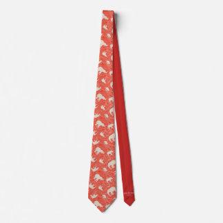 Cravate rouge d'éléphant de Paisley