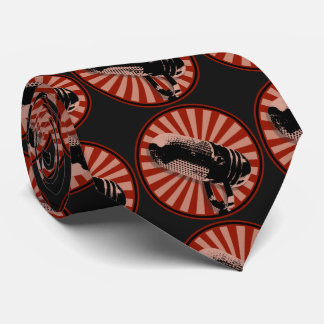 Cravate Rouge graphique de rétro microphone