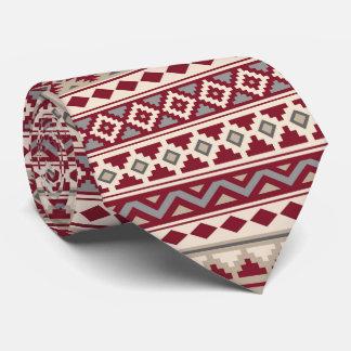 Cravate Sable crème de gris rouges aztèques de l'essence