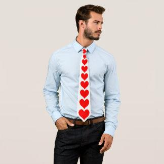 Cravate Saint-Valentin rouge de motif de coeur