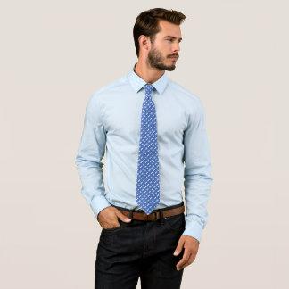 Cravate Satin moderne de Paisley d'haricot magique bleu