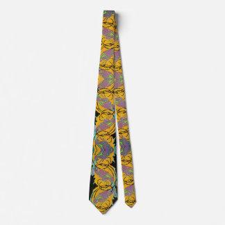 Cravate Sauterelles vintages de jardin de Pochoir de jazz