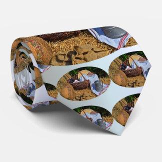 Cravate Scène de récolte de thanksgiving avec le chapeau