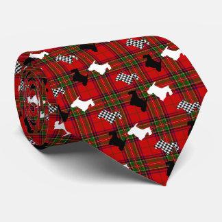 Cravate Scotties et plaid de Stewart