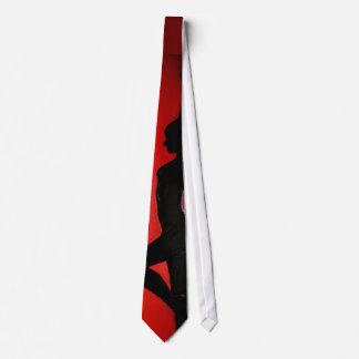 Cravate - silhouette de femme