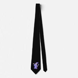 Cravate Sorcière pourpre magique de magicien de magicien