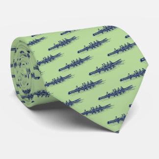 Cravate Sports aquatiques bleus d'équipe d'équipage de