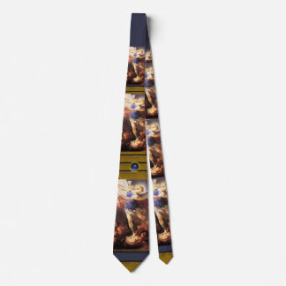 Cravate St Michael Arkhangel, topaze bleue