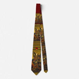 Cravate St Michael vainquant le diable, rubis