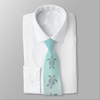 Cravate Style argenté de plage de tortues de mer