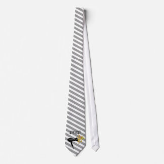 Cravate Style élégant de motif rayé de coiffeur
