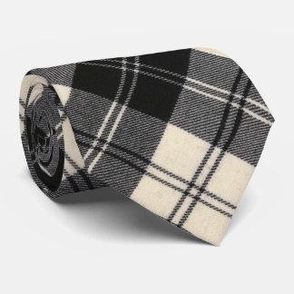 Cravate Tartan écossais original noir et blanc d'Erskine