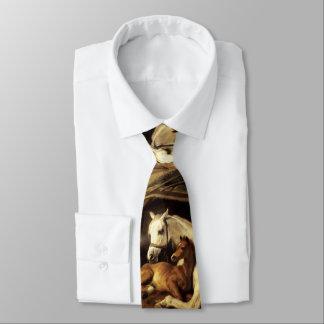 Cravate TENTE ARABE AVEC des CHEVAUX ET d'AUTRES ANIMAUX