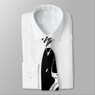 Cravate Texture en pierre de marbre repérée noire et
