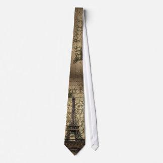 Cravate Tour Eiffel français de Paris d'oiseau de couronne