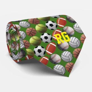 Cravate Toute la boule d'athlète de sports avec le
