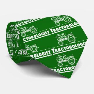 Cravate Tracteur vert drôle de Tractorologist