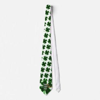 Cravate Trèfle de feuille du jour quatre de St Patrick