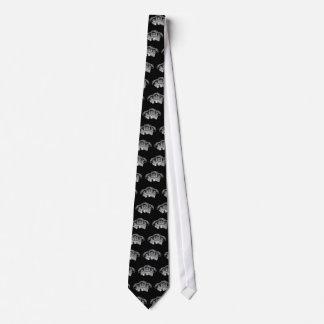 Cravate Trois crânes sages de chef