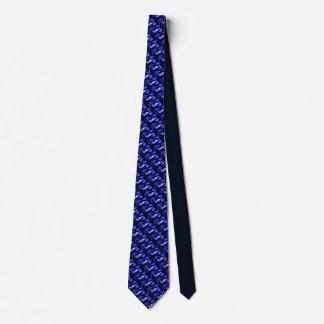 Cravate Une plus petite neige bleue et noire diagonale