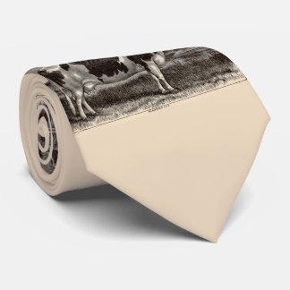 Cravate Vache du 19ème siècle du Holstein d'impression