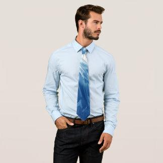 Cravate Vague cyan