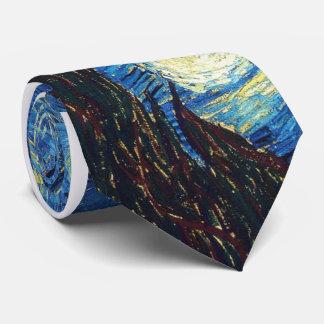 Cravate Van Gogh de nuit étoilée