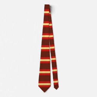 Cravate Vanille horizontale de rouge de Brown de rayures