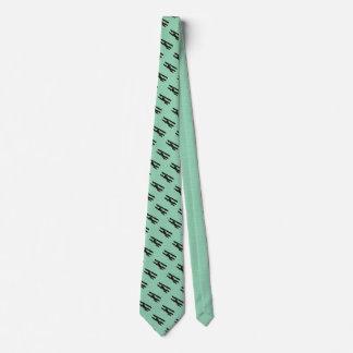Cravate Vert bleu d'avion