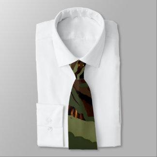 Cravate Vert de Conception-Armée de Camoflauge