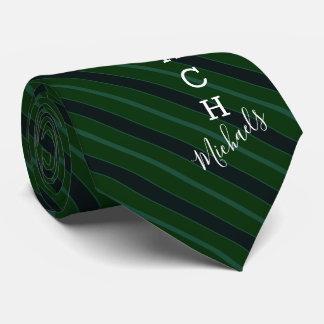 Cravate Vert de nom de signature d'entraîneur de football