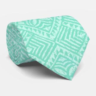 Cravate Vert en bon état tropical de Tapa Samoan