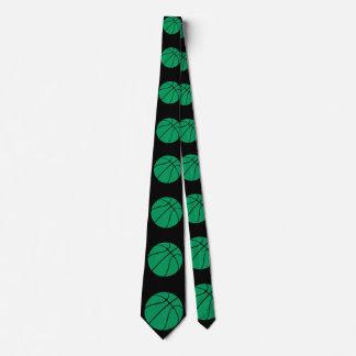 Cravate vert et noir de joueur de basket ou