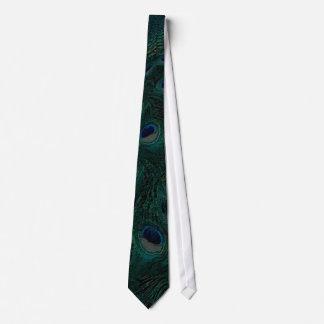 Cravate vert-foncé de paon