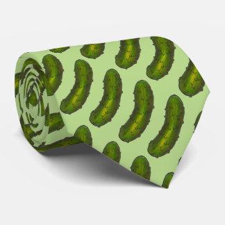 Cravate verte croquante de fin gourmet de