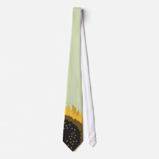 Cravate verte de mariage de tournesol de Lite