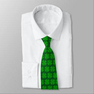 Cravate verte de partie de Jour de la Saint