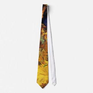 Cravate Vincent van Gogh - deux tournesols coupés -