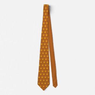 Cravate virile orange de tournesol de vert jaune
