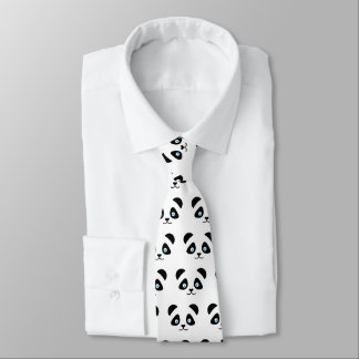 Cravate visage d'ours panda
