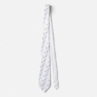 Cravate Vol de colombe de blanc