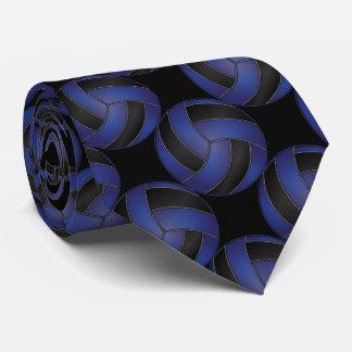Cravate Volleyball bleu-foncé et noir sportif
