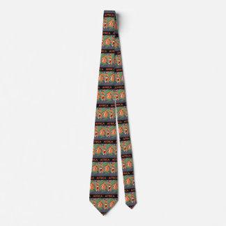 Cravate Voyage vintage d'art déco, indigène dans la jungle