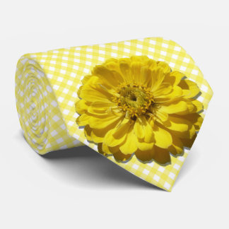 Cravate - Zinnia jaune sur le trellis