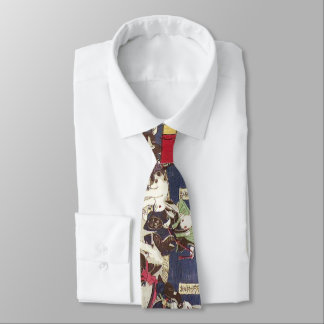 Cravates 兎の相撲, lapins de sumo de 芳藤, Yoshifuji, Ukiyo-e