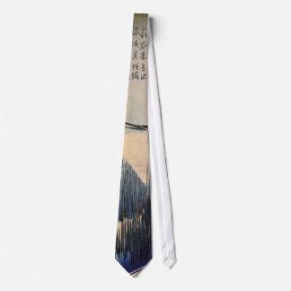 Cravates 葦に白鷺, héron de 広重 et roseau blancs, Hiroshige,