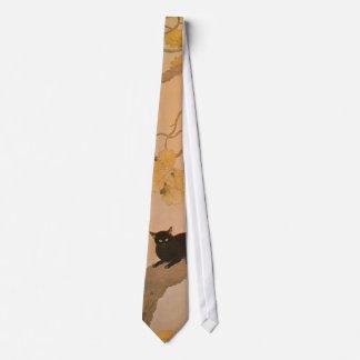 Cravates 黒猫, chat noir de 春草, Shunsō