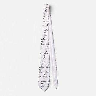 Cravates 13 et pour toujours conceptions d'anniversaire
