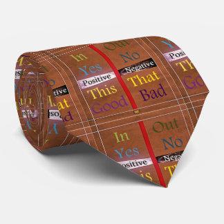 Cravates 21ème Citation ; Positif au-dessus de négatif