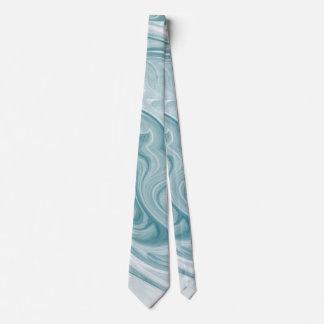 Cravates 'Abstract turquoise tourbillonnant